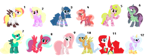 ~Mixed Pony Adopts #6~ CLOSED by IIbukiMioda