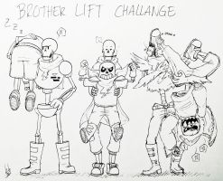 Brother Lifting Challenge! by SilverSoo