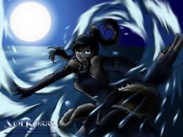 Korra in The Moon Night by SolKorra