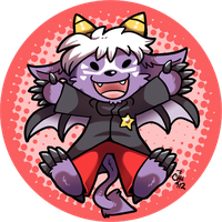 Commission - Chibi Buwaro Button by raizy