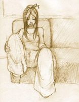 slouched on the couch by kakumei