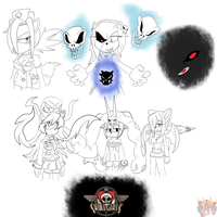 SkullGirls Sonic Style by ColorDrake