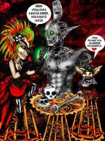 STEAMPUNK GOBLINS:tea time with silver by Dollysmith