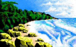 Beach (MsPAINT) by mindsetteler