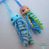 Hanging Crochet Jellyfish by Bon-AppetEats