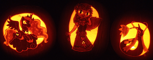Three Princess Pumpkins by johwee
