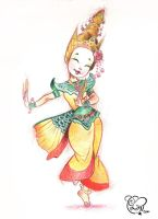 Thai Dancer by IriusAbellatrix