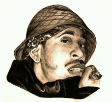 Ludacris Pencil Drawing by julydart