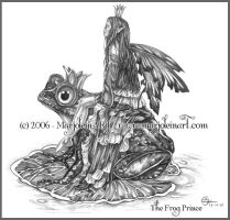The Frog Prince in Pencil by MarjoleinART