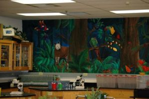 Giant Rainforest Mural pt 1 by PonderosaPower