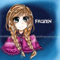Anna Headshot - Frozen by kioruchii