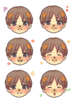 Taehyung cheebs by namiirin