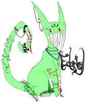 Barbed Wire Lime Green by Zeryxis