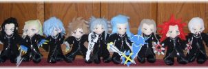 KH2 13th Organization Plushies by SetsunaKou