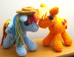 Appledash Plushies - My Little Pony by kaerfel