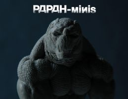 WIP Reptilian monster detail, 50mm by Papah-minis