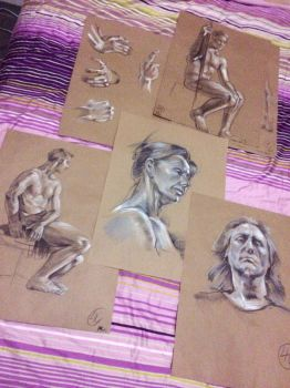 Life Drawings by GetYourKrayon