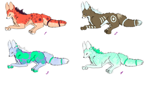 5 Point Wolf Adoptables Closed~! by Briggieh