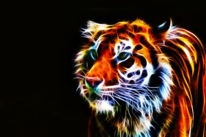 Fractalius Tiger IV by megaossa