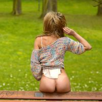 Bench with Girl by rasmus-art