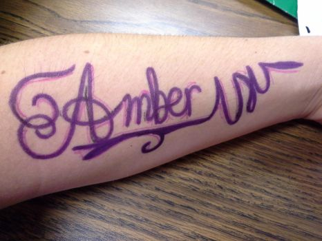 arm calligraphy by LovelyAmbey