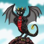 Iso, King of the Mountain by dragondoodle