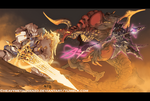 Final Fantasy XIV-Battle against Ifrit by HeavyMetalHanzo