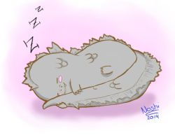 Godzilla-chan (sleep) by Noshi-Chan