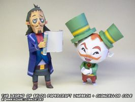 Papercraft Legend of Zelda Linebeck + Cole by ninjatoespapercraft