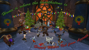 Happy Winter Veil from Azeroth by thephoenix3000