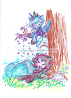 mlp Luna and Shadow the hedgehog by POLISHhedgieFanGirl