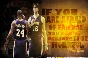 Kobe Bryant and Pau Gasol by pllay1