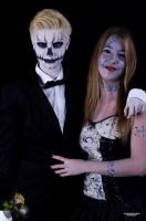 Jack Skellington and Sally by CandyCornFields