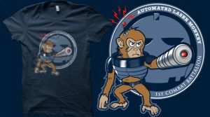 Qwertee - Automated Laser Monkey vote request by DarrenCarnall