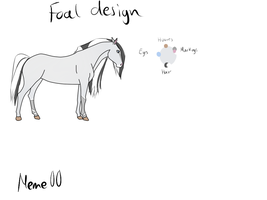 Foal design for the contest by Meme00