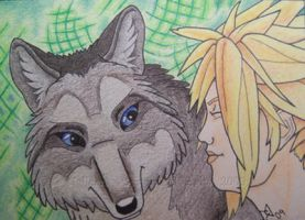 ACEO- Wolf and Cloud by grygon