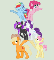 Faybelle and the guys by DoubleGrimmie