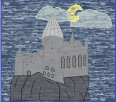 Hogwarts drawing digitalized by 15kimmy