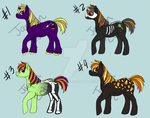 Halloween Pony adoptables OPEN by Jayoen