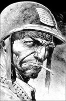 Sgt Rock by Brian Bolland by FuzzChile