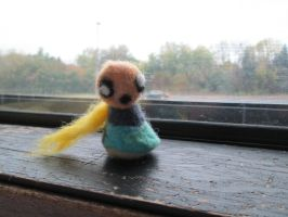 Daisy, a needle felt doll by my daughter by imaginaryfriends2012