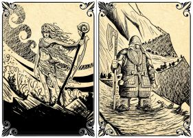 Playing Cards: The Sea Creature - The Dwarf by Lythilien