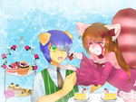 :HBD: Tea-Time with Michigo by XMireille-chanX