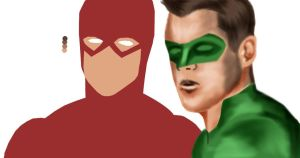 Barry and Hal WIP by D-Train92