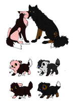 Pups For Wolfgirlsadopts by AerithsAdopts