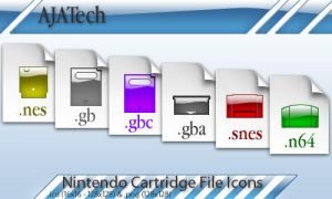 Nintendo Cartridge File Icons by andrewtarius