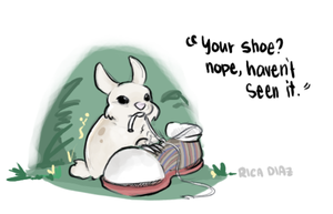 Bunny. don't nibble on my shoe by vanipy05
