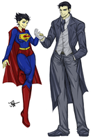 Wayne and Superwoman by tyca52j2