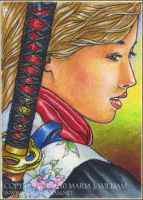 Silence - ACEO by MJWilliam