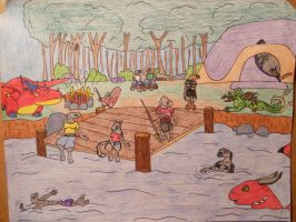 Camping Collage by LykenZealot
